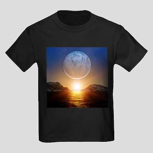 Alien landscape, artwork - Kid's Dark T-Shirt