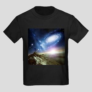 Colliding galaxies, artwork - Kid's Dark T-Shirt