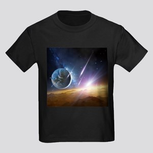 Earth-like planet, artwork - Kid's Dark T-Shirt
