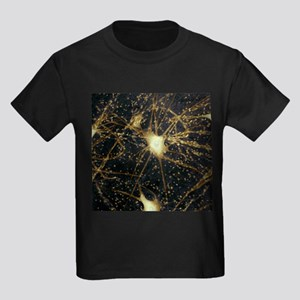 Motor neurons, light micrograph - Kid's Dark T-Shi