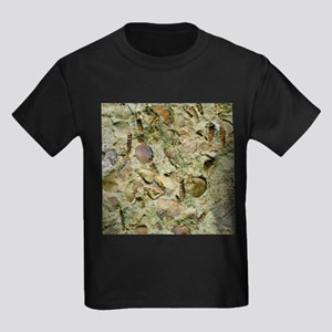 A mixed assemblage of fossils - Kid's Dark T-Shirt