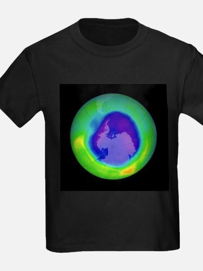 Antarctic ozone hole, 2007 - Kid's Dark T-Shirt