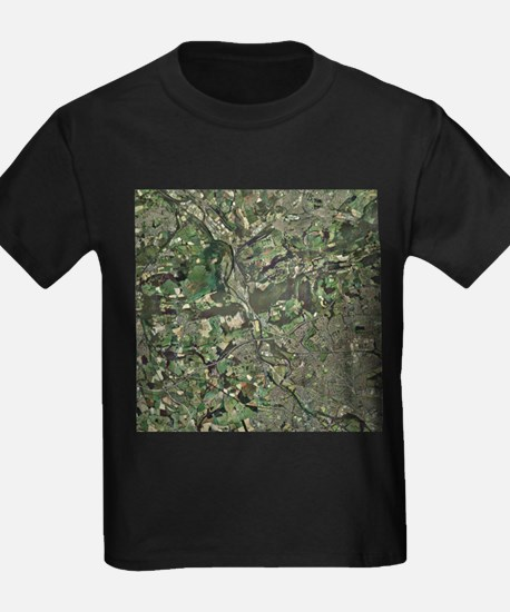 Cardiff, aerial photograph - Kid's Dark T-Shirt