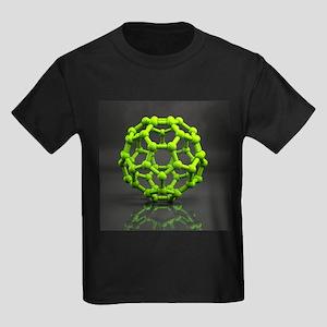 Buckyball molecule C60, artwork - Kid's Dark T-Shi