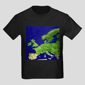 Europe, satellite image - Kid's Dark T-Shirt