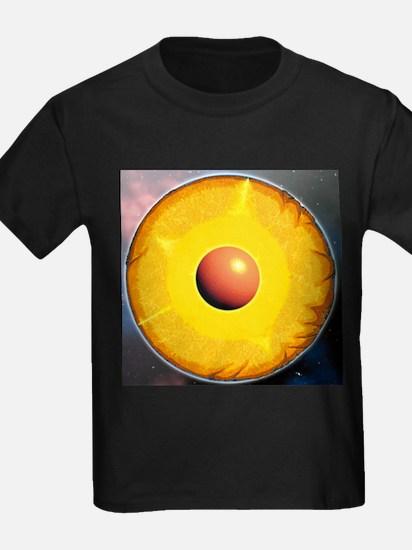 Earth's internal structure - Kid's Dark T-Shirt