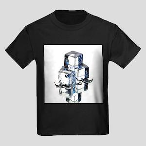 Ice cubes - Kid's Dark T-Shirt