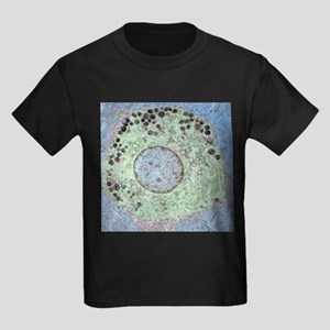 Liver macrophage cell, TEM - Kid's Dark T-Shirt