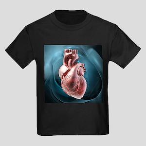 Human heart, artwork - Kid's Dark T-Shirt
