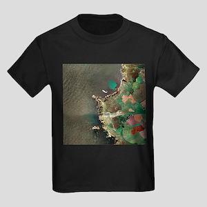 Land's End, UK, aerial image - Kid's Dark T-Shirt