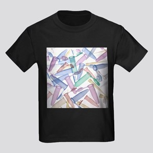 Pipette tips and sample tubes - Kid's Dark T-Shirt