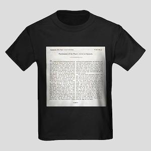 Punishment of Slaves text - Kid's Dark T-Shirt
