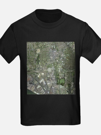 Southampton,UK, aerial image - Kid's Dark T-Shirt