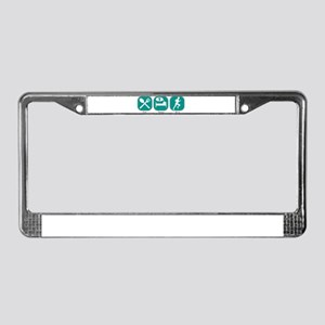 Eat Sleep RUN License Plate Frame