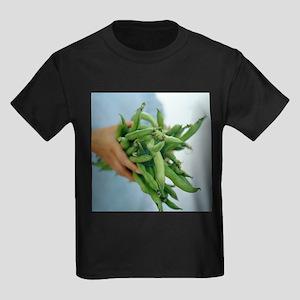 Green beans - Kid's Dark T-Shirt
