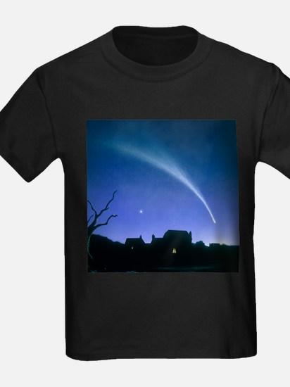 Artwork of a comet - Kid's Dark T-Shirt