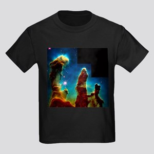 Gas pillars in Eagle Nebula - Kid's Dark T-Shirt