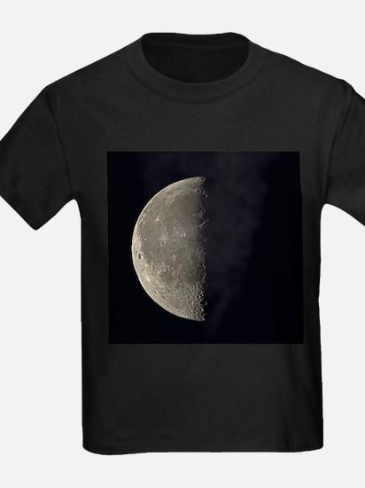 Last quarter Moon - Kid's Dark T-Shirt