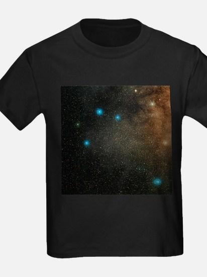 Sagittarius stars - Kid's Dark T-Shirt