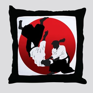 Aikido Throw Pillow