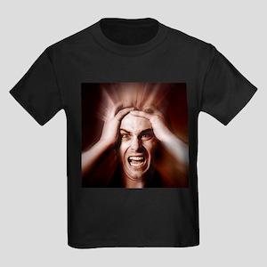 Stressed man - Kid's Dark T-Shirt