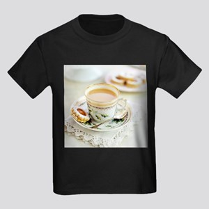 Tea and biscuits - Kid's Dark T-Shirt