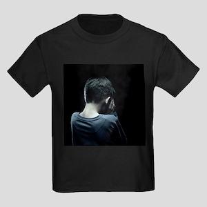 Unhappy boy - Kid's Dark T-Shirt