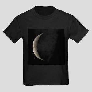 Waning crescent Moon - Kid's Dark T-Shirt