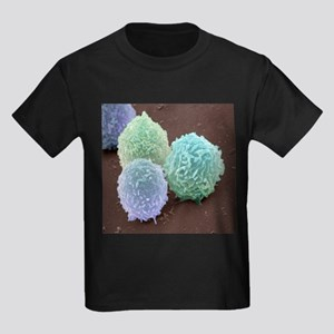 White blood cells, SEM - Kid's Dark T-Shirt