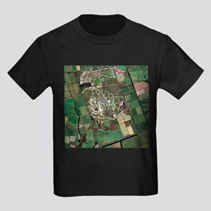 Menwith Hill spy base, aerial image - Kid's Dark T