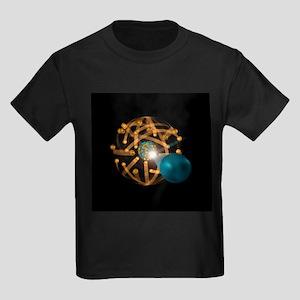 Nuclear fission, artwork - Kid's Dark T-Shirt