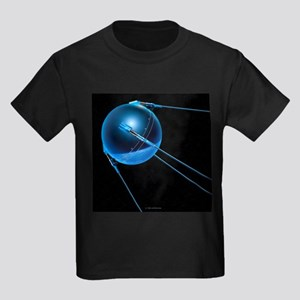 Sputnik 1 satellite - Kid's Dark T-Shirt