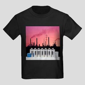 Oil products - Kid's Dark T-Shirt
