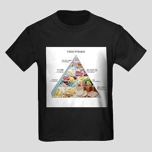 Food pyramid - Kid's Dark T-Shirt