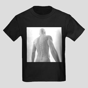 Upper body bones, artwork - Kid's Dark T-Shirt