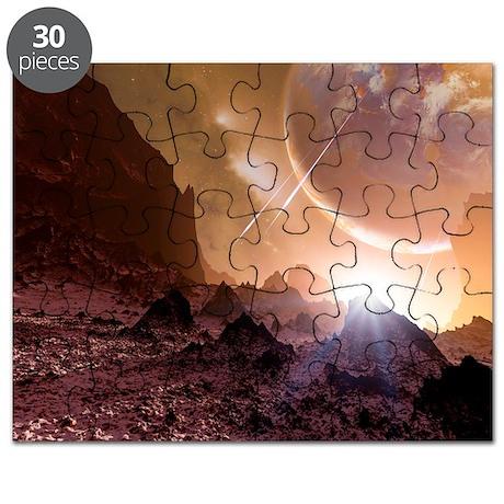 Alien landscape, artwork - Puzzle