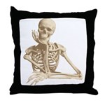 Skeleton Throw Pillow Sofa Costume