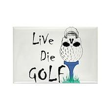 Live Die Golf Rectangle Magnet