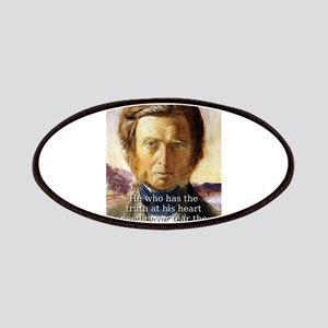 He Who Has The Truth - John Ruskin Patch