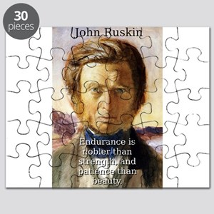 Endurance Is Nobler - John Ruskin Puzzle