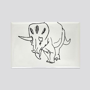 Funny Don't Tri Me Triceratops Rectangle Magnet