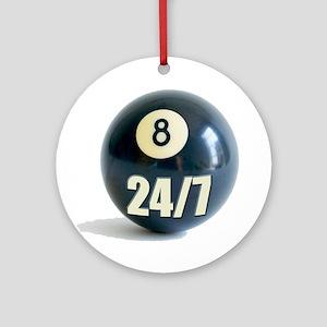 Billiards 24/7 Ornament (Round)