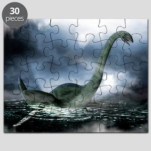 Loch Ness monster, artwork - Puzzle