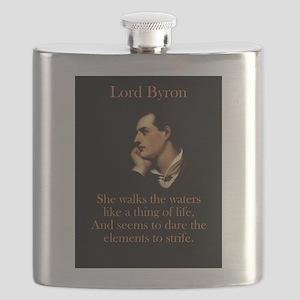 She Walks The Waters - Lord Byron Flask