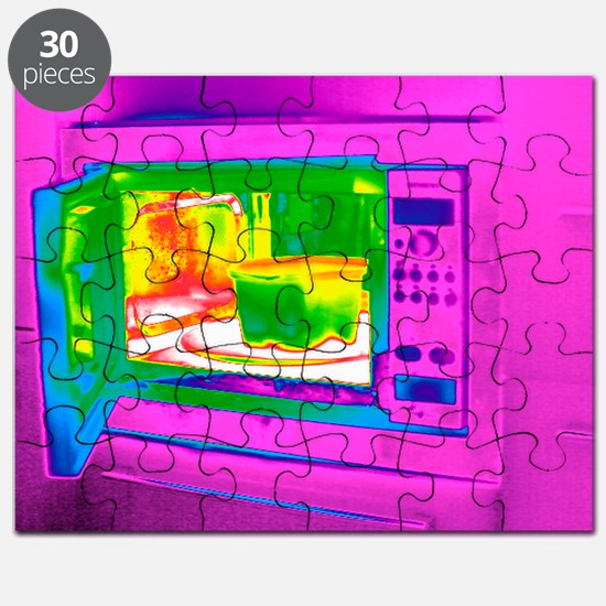 Microwave, thermogram - Puzzle
