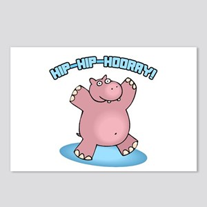 Hip-Hip-Hooray Hippo Postcards (Package of 8)