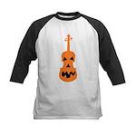 Violin Jack o'Lantern Kids Baseball Jersey