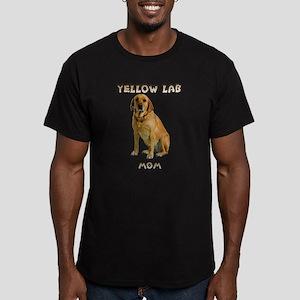 Yellow Lab Mom Men's Fitted T-Shirt (dark)