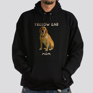 Yellow Lab Mom Hoodie (dark)