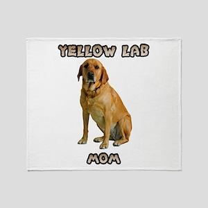 Yellow Lab Mom Throw Blanket